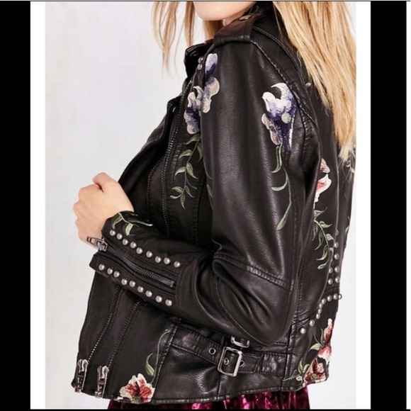 moderate cost hot-selling real promo code Blank NYC Embellished Leather Jacket NWT